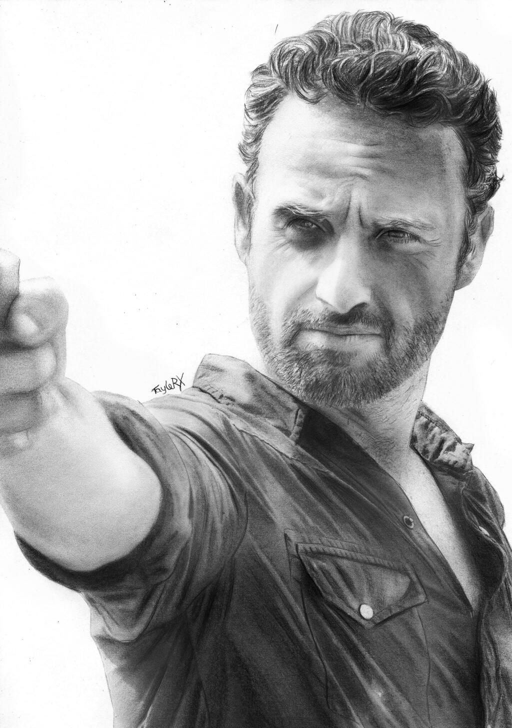 50 Amazing Pencil Portrait Drawings For Inspiration Walking Dead Drawings Pencil Portrait Portrait