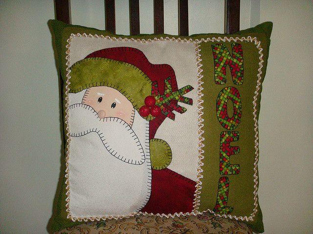 Coj n de santa en fieltro craft ideas pinterest - Cojines de navidad ...