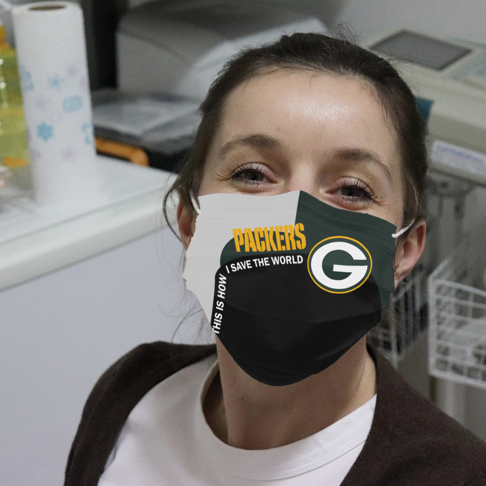 Packers This Is How I Save The World Cloth Face Mask Allbluetees Com In 2020 Face Mask Mask Face