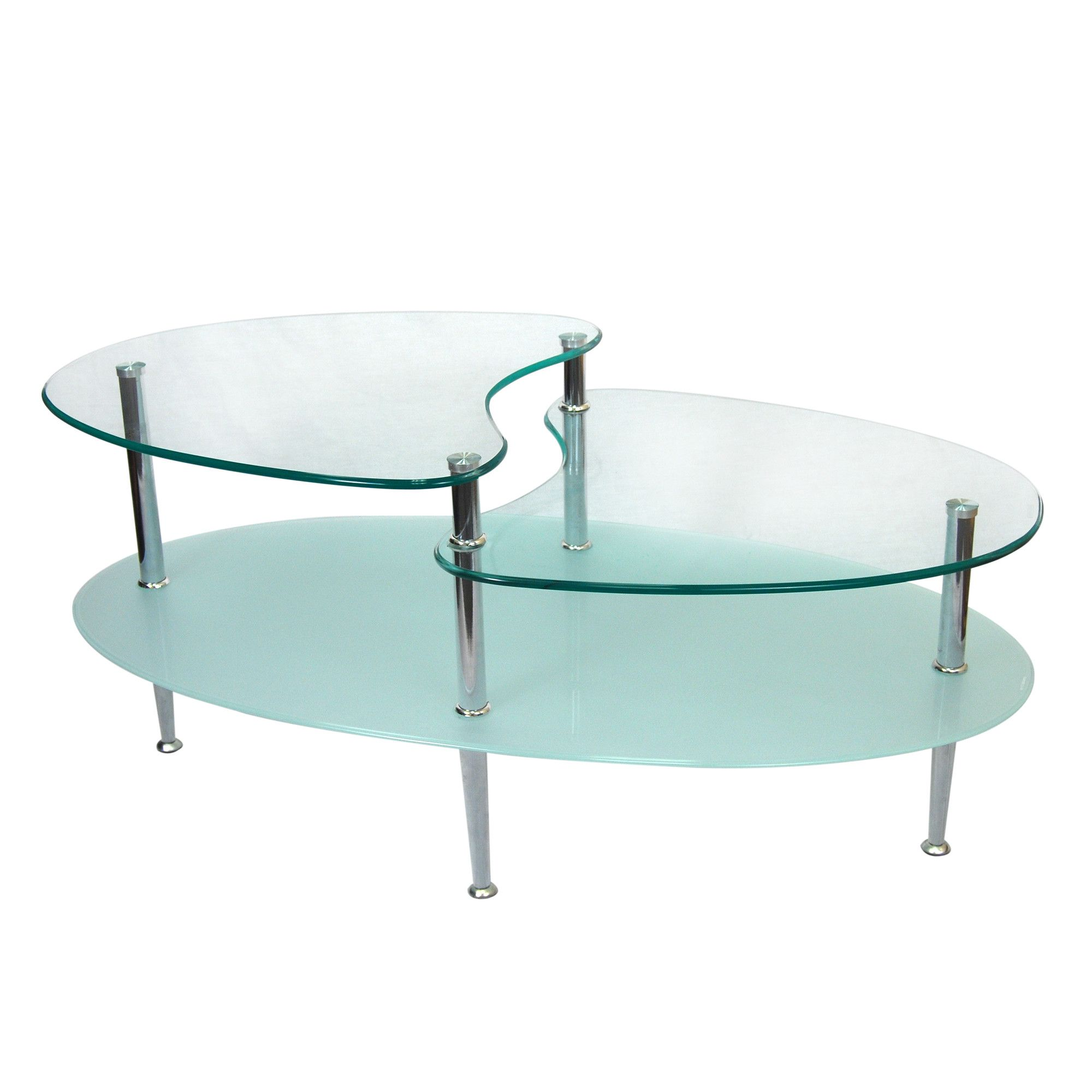 Olivia Coffee Table Modern glass coffee table, Oval