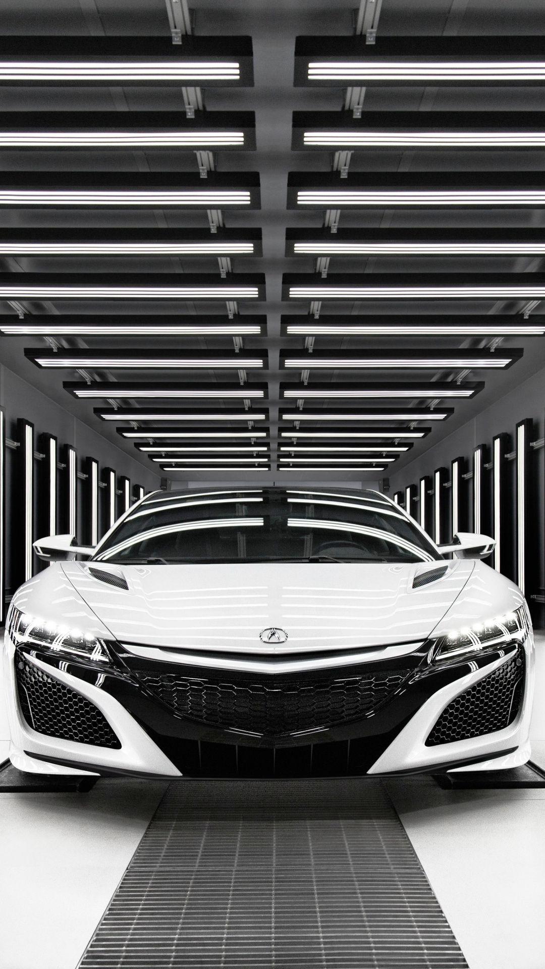 Acura Nsx White Monochrome 2019 1080x1920 Wallpaper