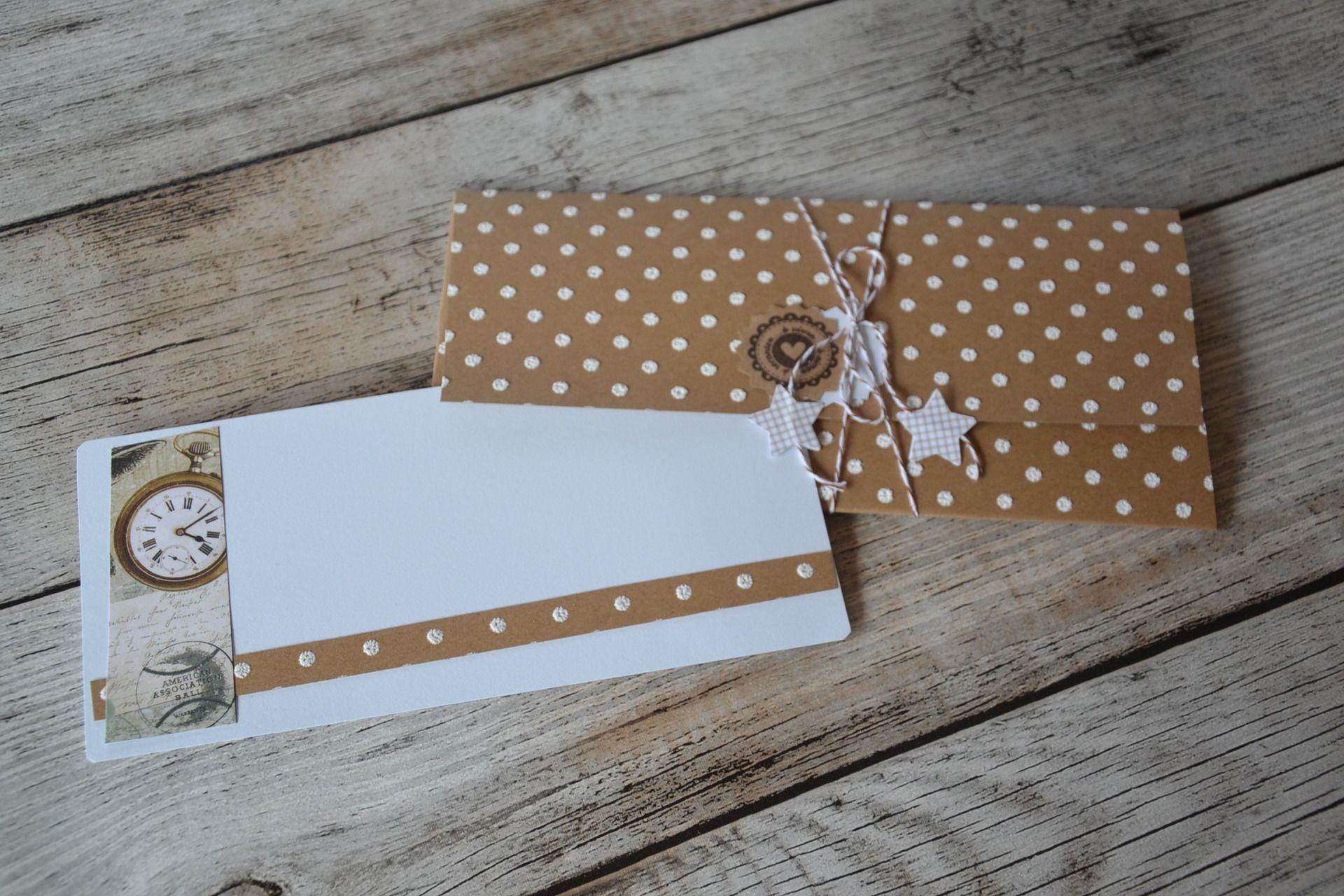 Carte Et Enveloppe Porte Chèque Spécial Mariage Cartes