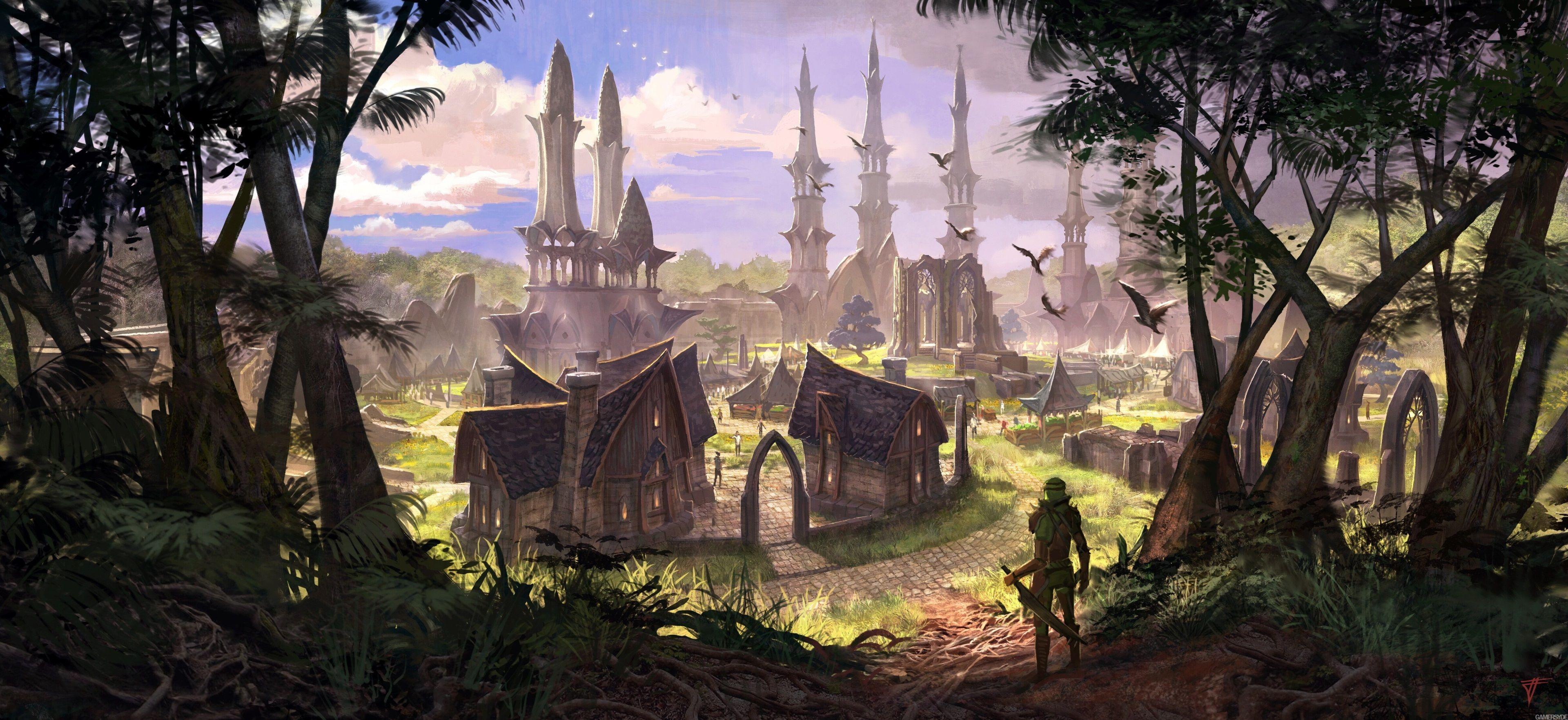 3840x1764 The Elder Scrolls Online 4k Free Downloads Hd Wallpaper Elder Scrolls Online Concept Art World Elder Scrolls
