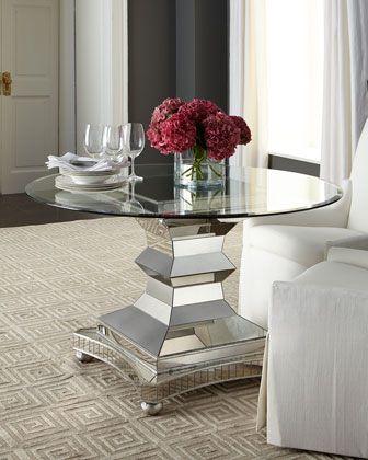 Barclay Butera Leighton Dining Chair Bravado Dining Table Round Dining Room Round Dining Room Table Beautiful Dining Rooms