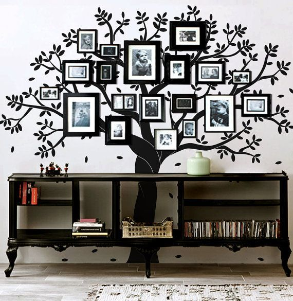 46 inventive diy wall art projects and ideas for the for Diy family tree wall mural
