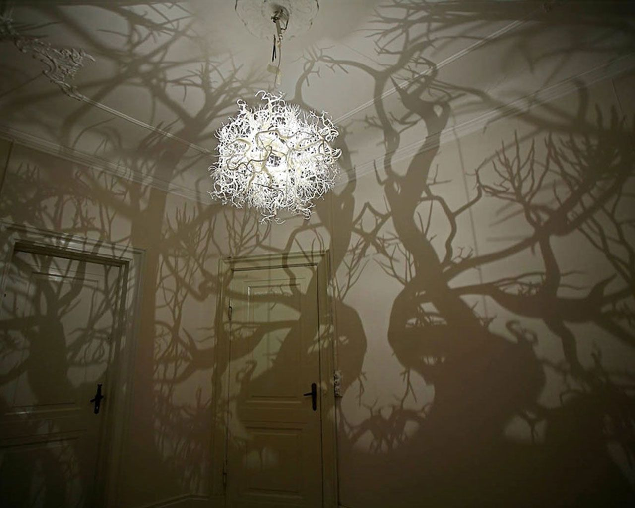 This Chandelier Creates The Atmosphere Of A Moonlit Walk In Forest