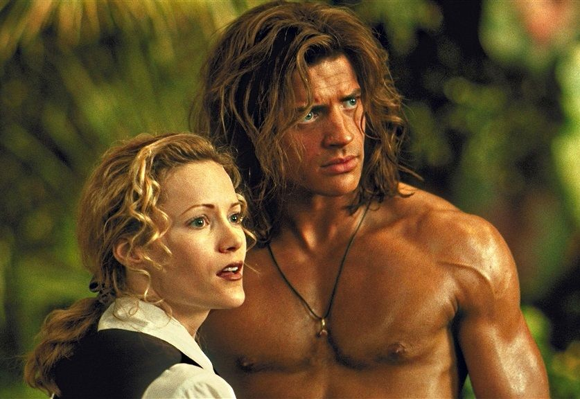 George Of The Jungle George And Ursula Brendan Fraser And