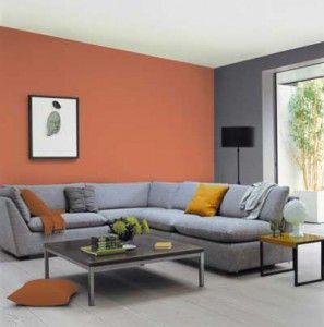 Fotos e ideas para decorar en color naranja piso - Muebles grises paredes color ...