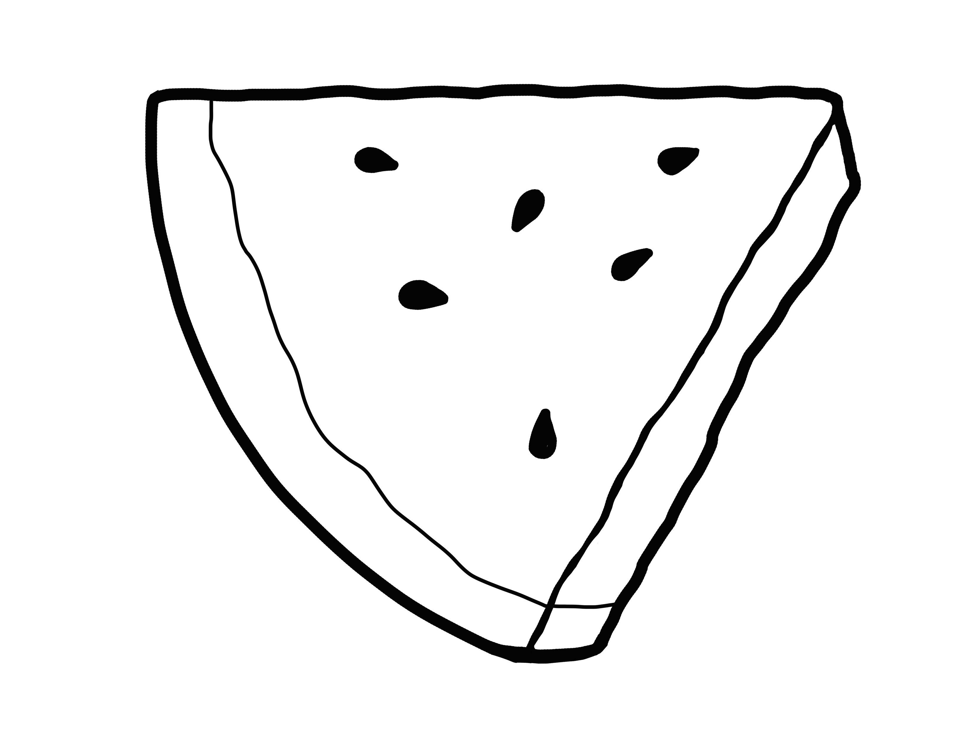 Watermelon Illustration Outline Bullentinboards