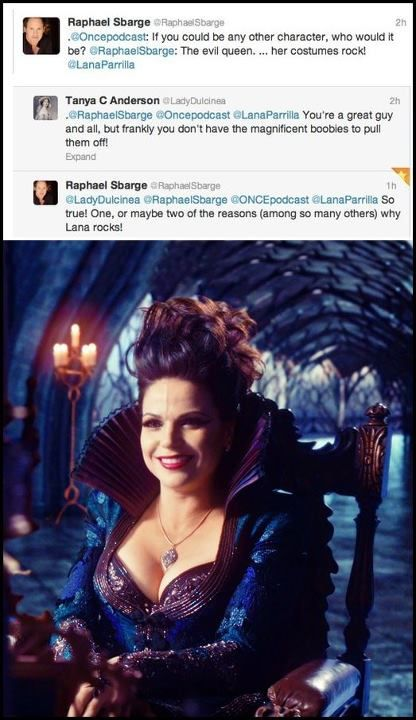 Lol! Sooo true! No one can pull off the Evil Queen, but the one & only Lana Parrilla:)