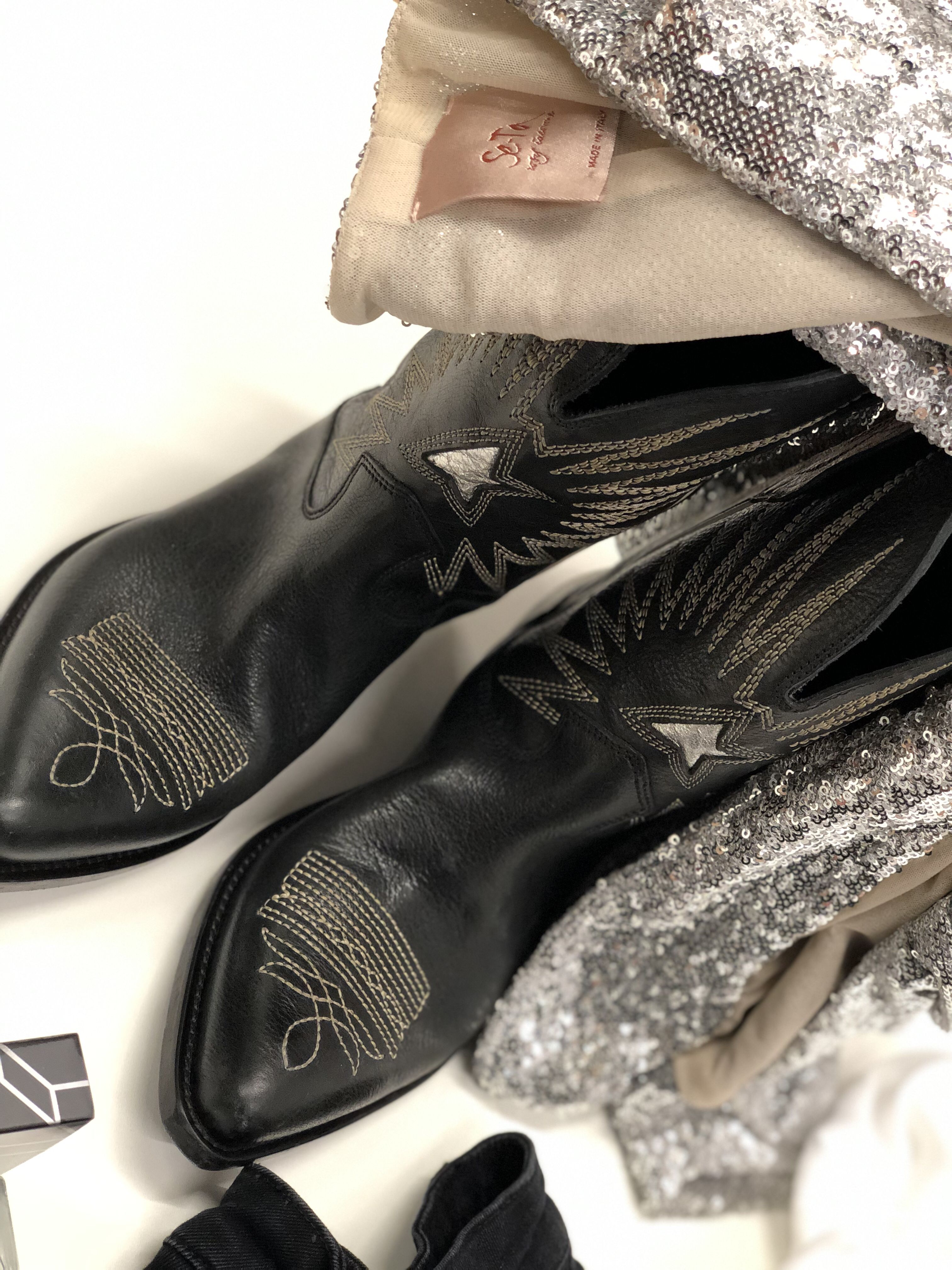 4c8ee5c57fa Black Wish Star cowboy boots from Golden Goose Deluxe Brand ...