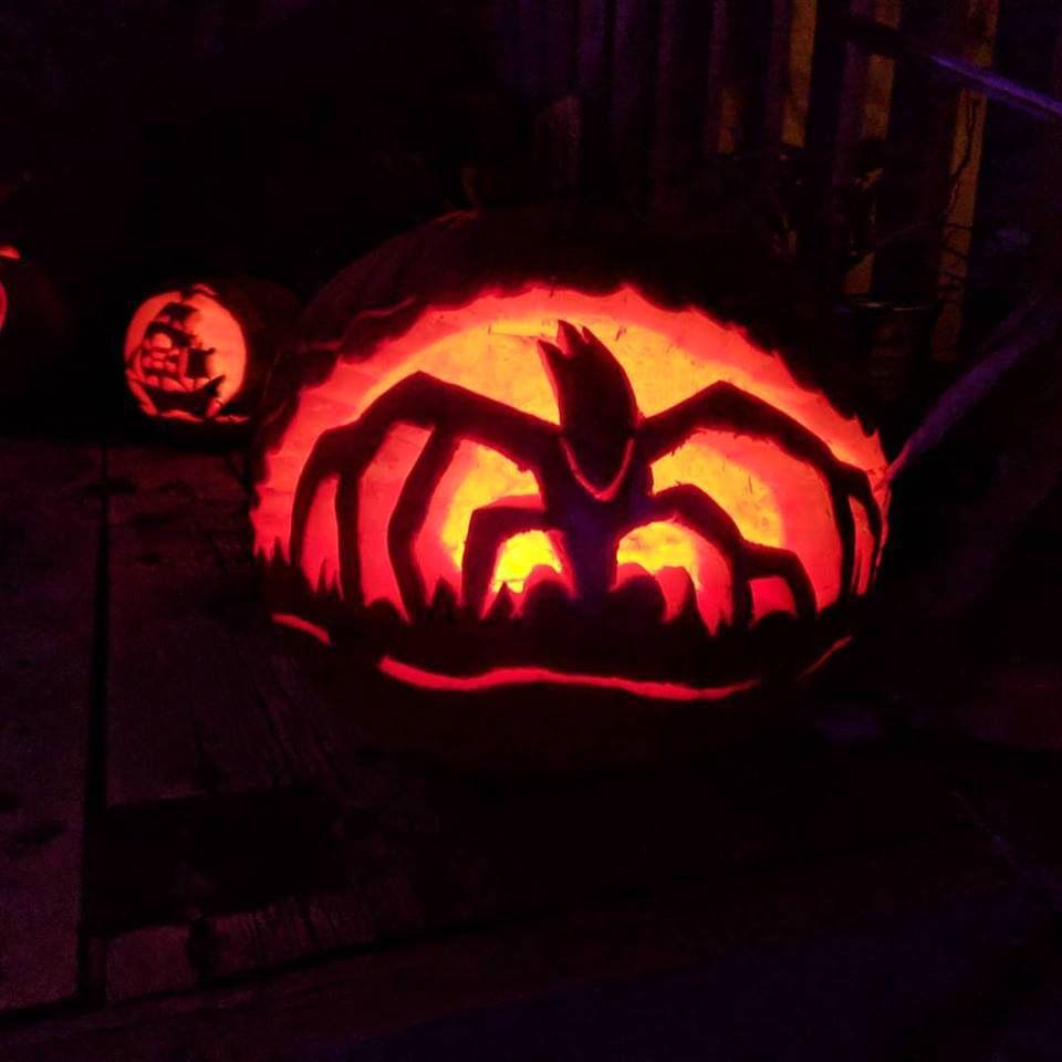 pumpkin template stranger things  Pumpkin Carving in 7   Stranger things pumpkin, Pumpkin ...