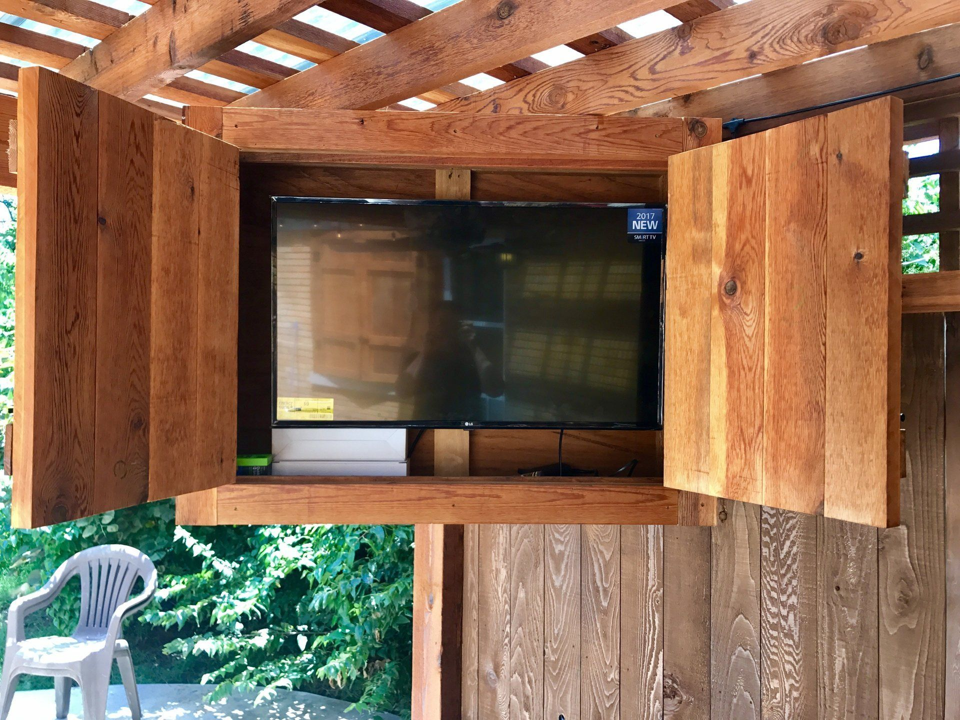 Idea By Pmhokc Com On Custom Tv Cabinets Tv Cabinets Outdoor Entertaining Area Custom Cabinets