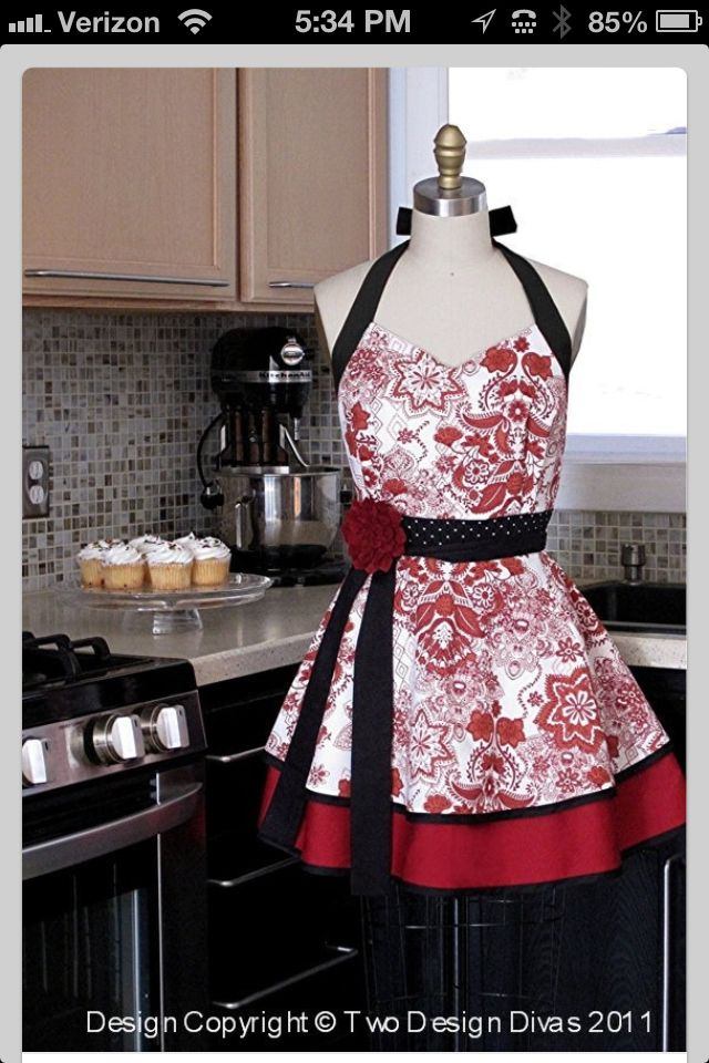 Love all the aprons We have found on here!  A wife and mommys job is never done! Why not feel pretty while your the Domestic Goddess of your home to. Can't wait to make them then share with you and hopefully sell Soon!