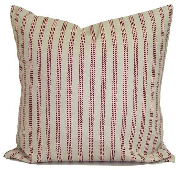 Ticking Stripe Pillow Covers French Ticking Decorative Pillow