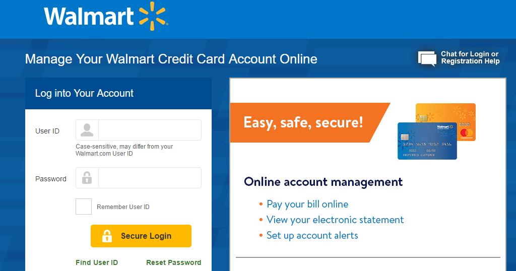 Walmart credit card Login and Steps to make a payment? walmart cc login sign  in register a walmart credit card account full login