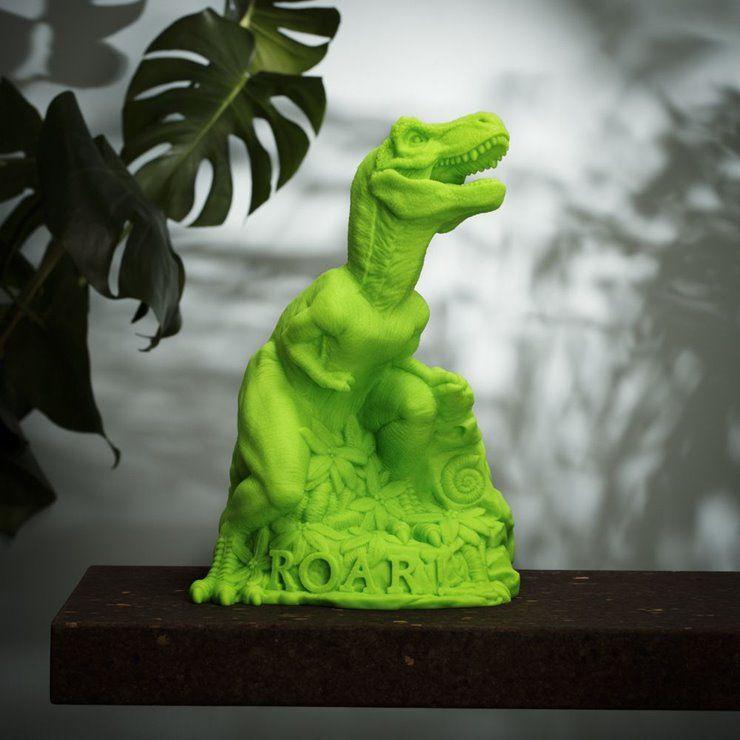 DINO ROAR!Lampe/Veilleuse LED TREX H35cm vert fluo
