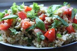 Sitruunainen libanonilainen couscous-salaatti