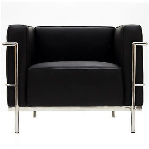Le Corbusier Lc3 Style Armchair In Black Leather Ideas