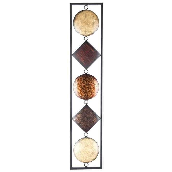 wonderful Vertical Metal Wall Art Part - 7: Multi Color Vertical Metal Wall Decor