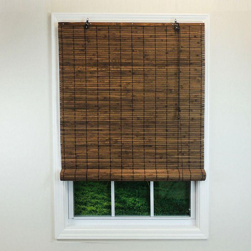 Radiance Venezia Flatstick Woven Bamboo Roll Up Shade Dark