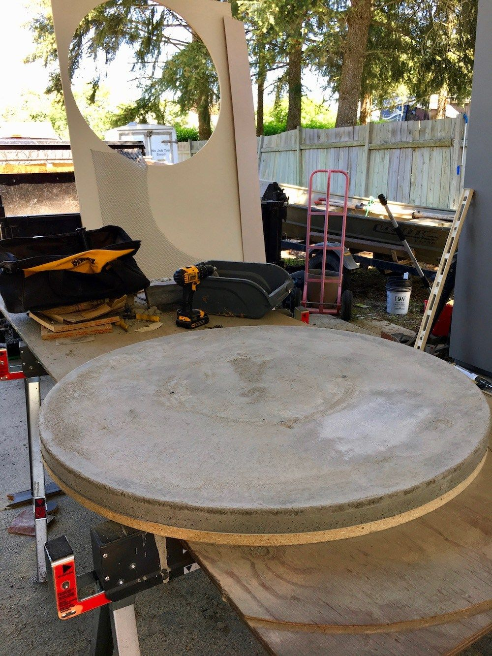 How To Make A Round Concrete Table Top Diy Patio Table Concrete