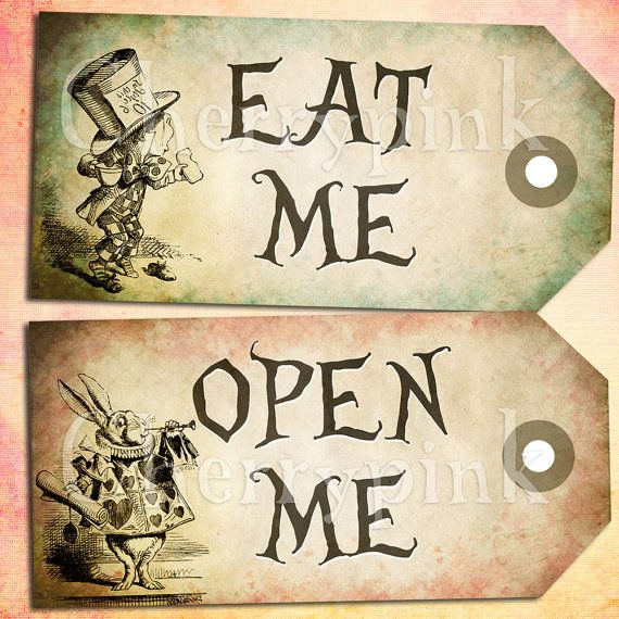 Alice vintage tags alice in wonderland tags sale item labels 7 best images of eat me drink me printable templates free printable alice in wonderland drink me tag mad hatter tea party drink me tags free and alice in pronofoot35fo Gallery