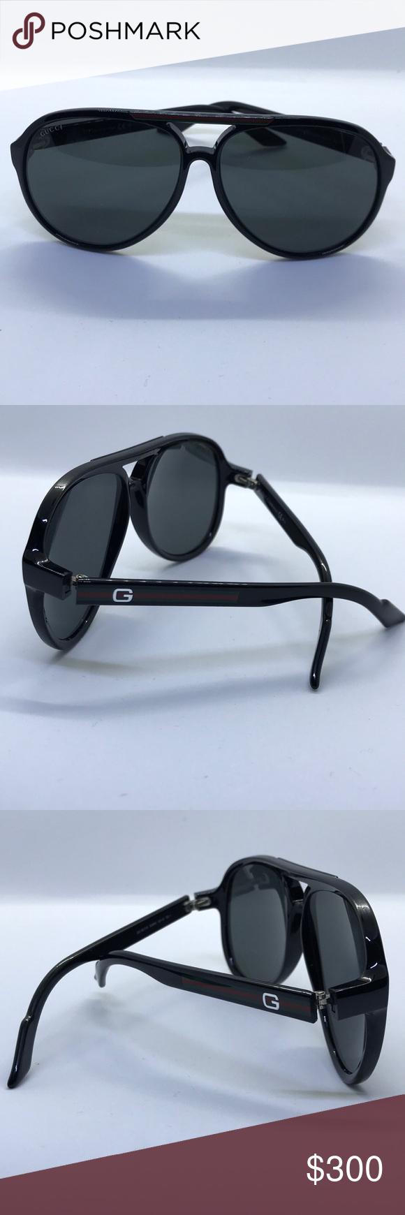 5908e799aec Authentic Gucci Men s Aviator Sunglasses Gucci Men s Aviators Black men s  sunglasses model GG 1627 S Gucci Accessories Sunglasses