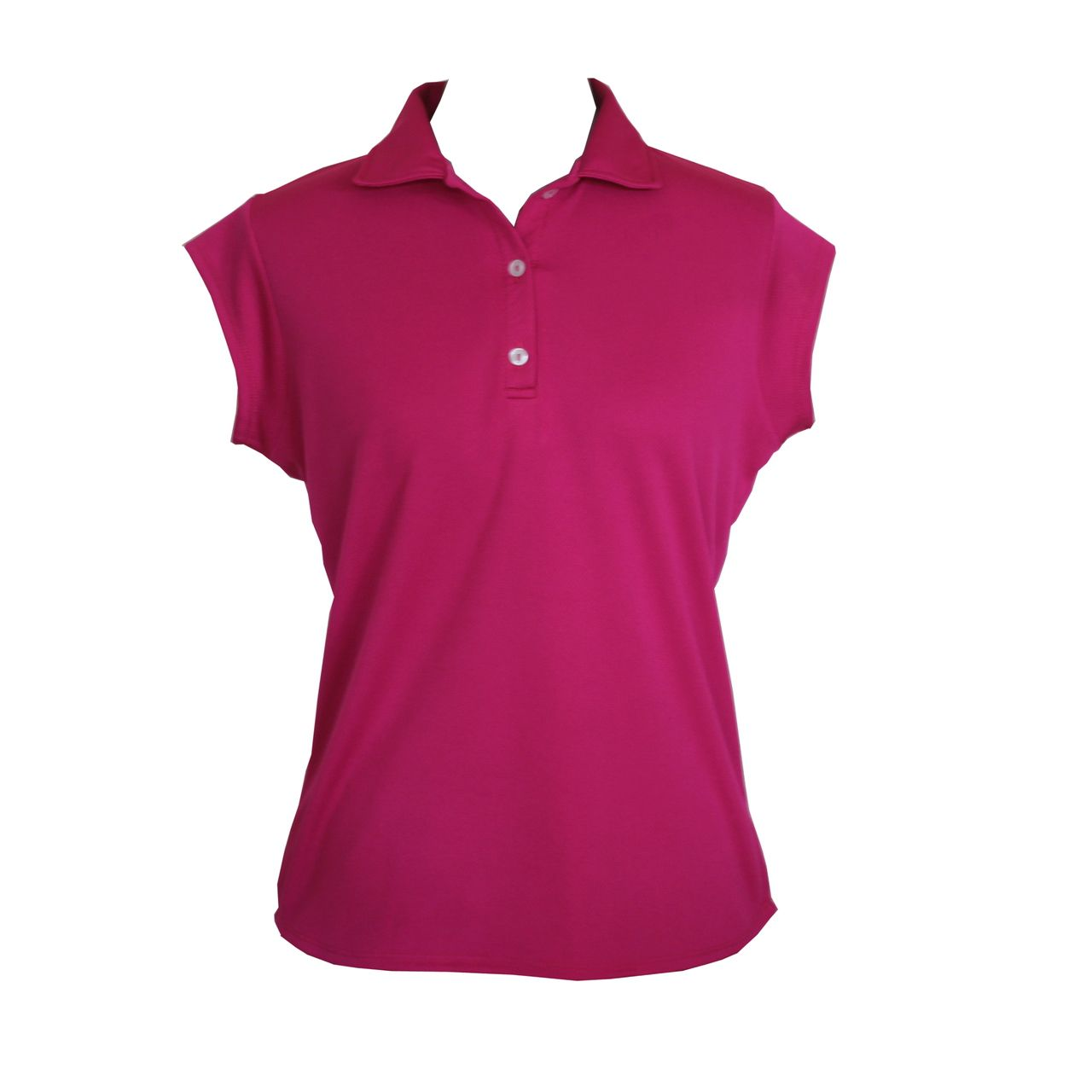 10ea5f9a218b7 Ladies sports shirt in hot pink. Button up front