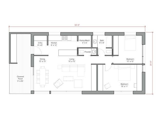 go logic 1200 sf plans. | at home | pinterest | prefab, bungalow and