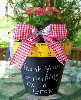 Cute Diy Chalkboard Planter As An End Of The Year Gift For Your