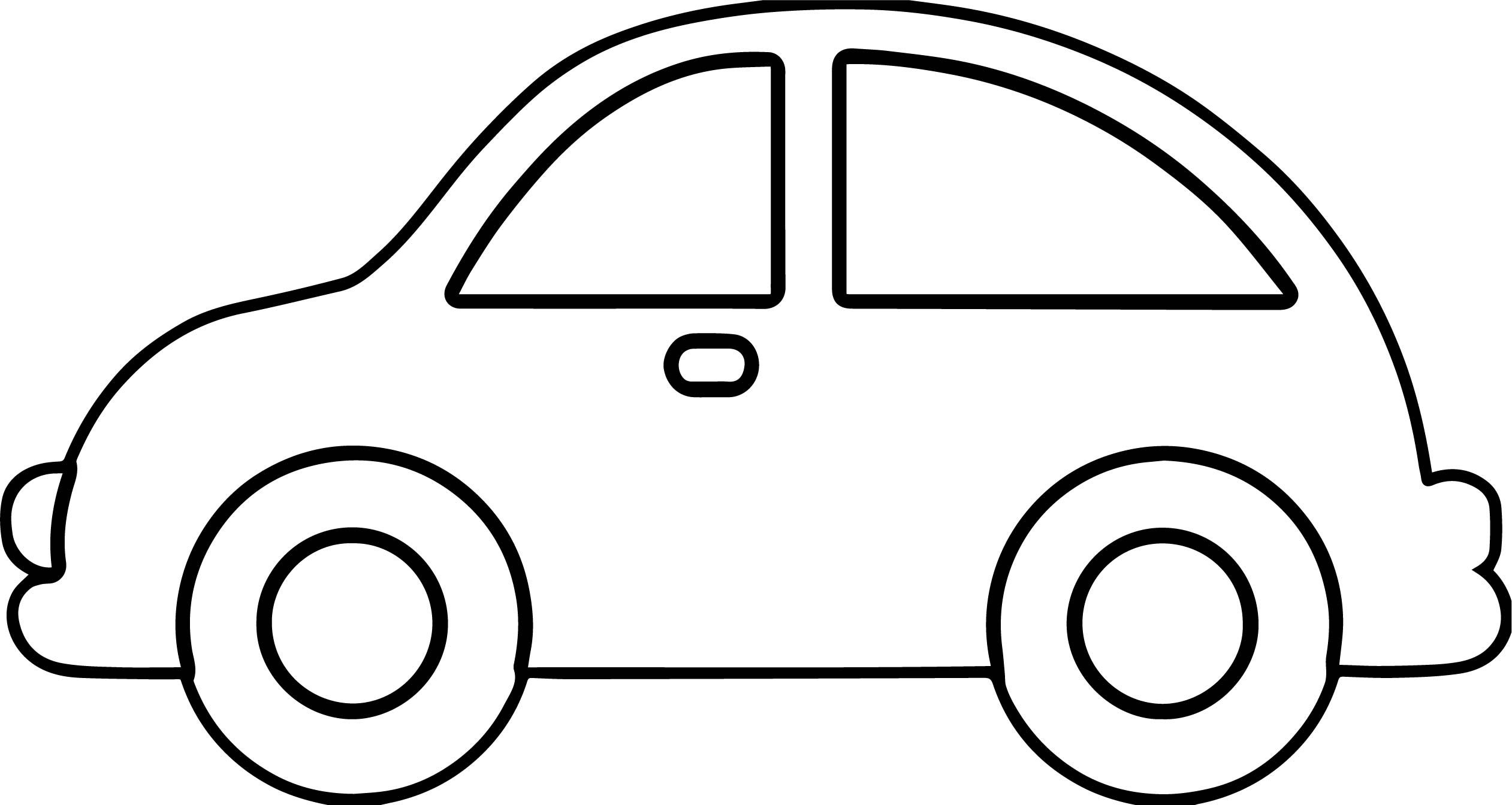 Black and White Cartoon Car | Car Outline | Free download best Car ...