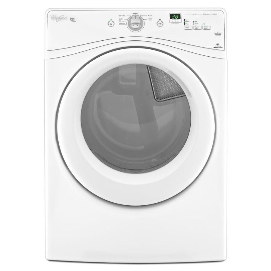 Whirlpool Duet 7 4 Cu Ft Electric Dryer White At Lowes
