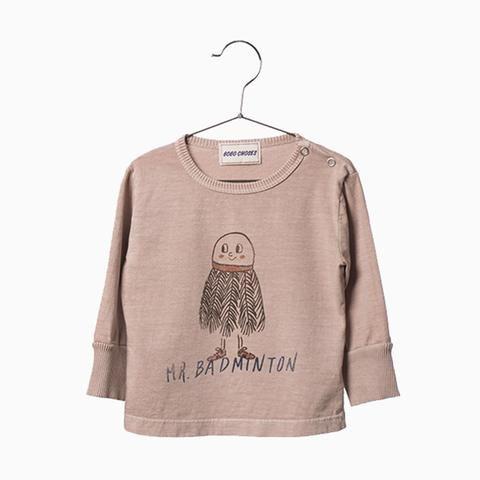 mr. badminton baby t-shirt