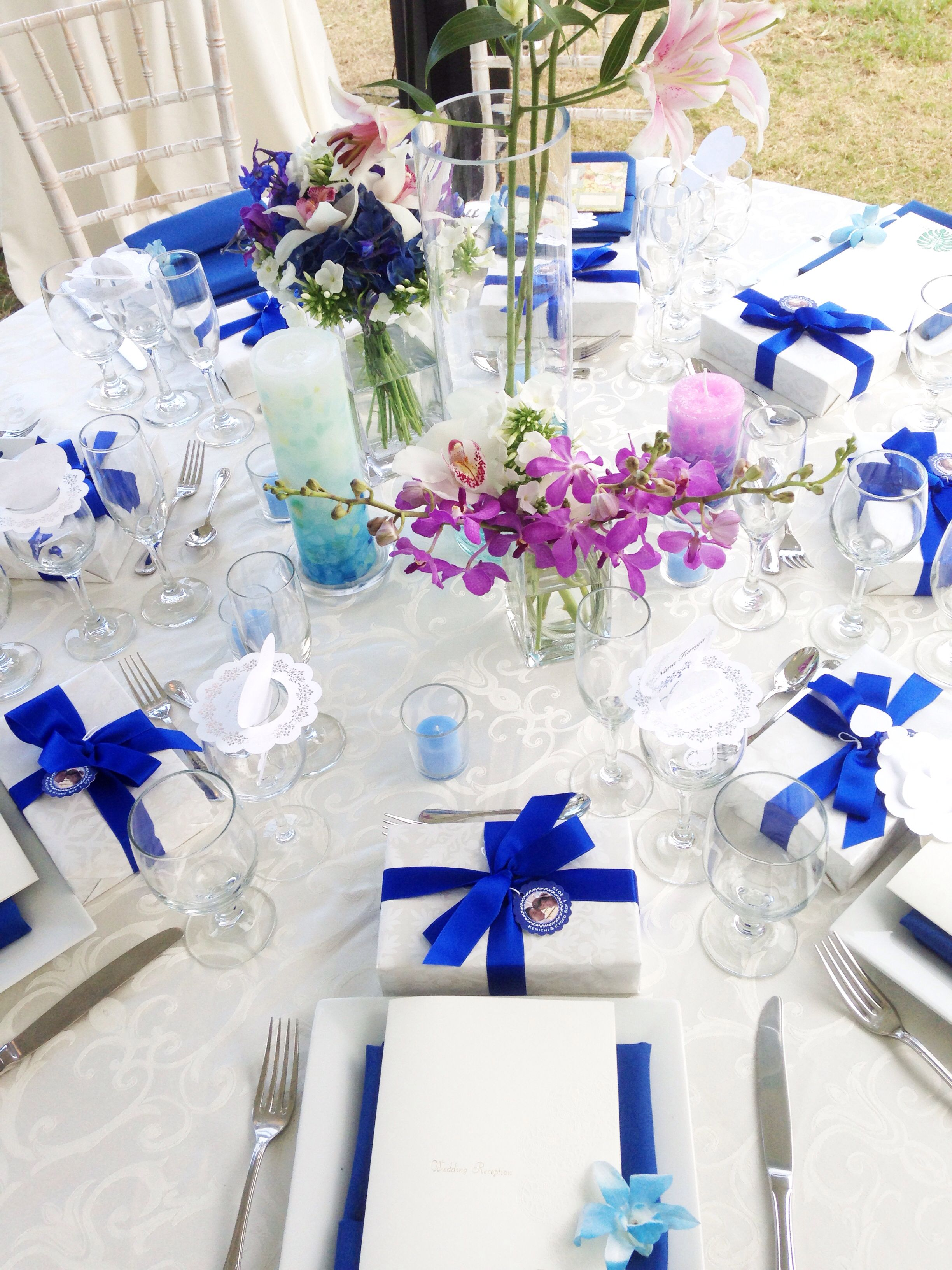 Royal blue and fuchsia | Bliss Bridal | Pinterest | Blue wedding ...