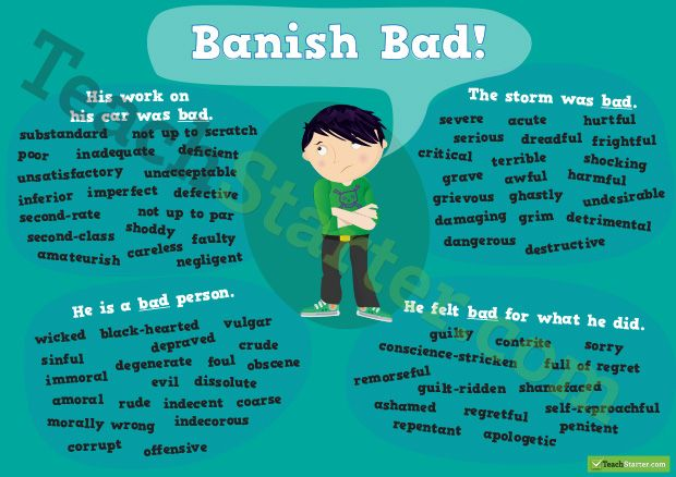 Other words for Bad Synonym Poster | Writing... | Words ...