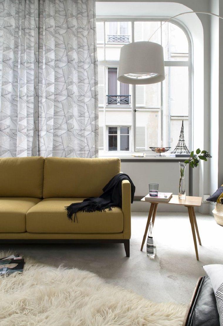 tende-moderne-per-soggiorno-colore-grigio-decorazioni | Tende 1