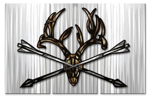 Crossed Arrow Mount 2 Metal Wall Art Hanging