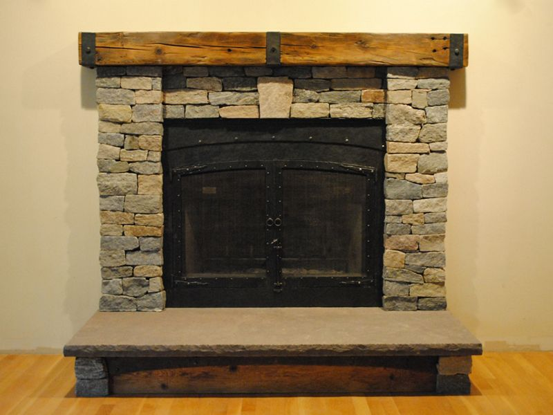 Boston Blend Ledgestone | Fireplace | Before & After Photos ...