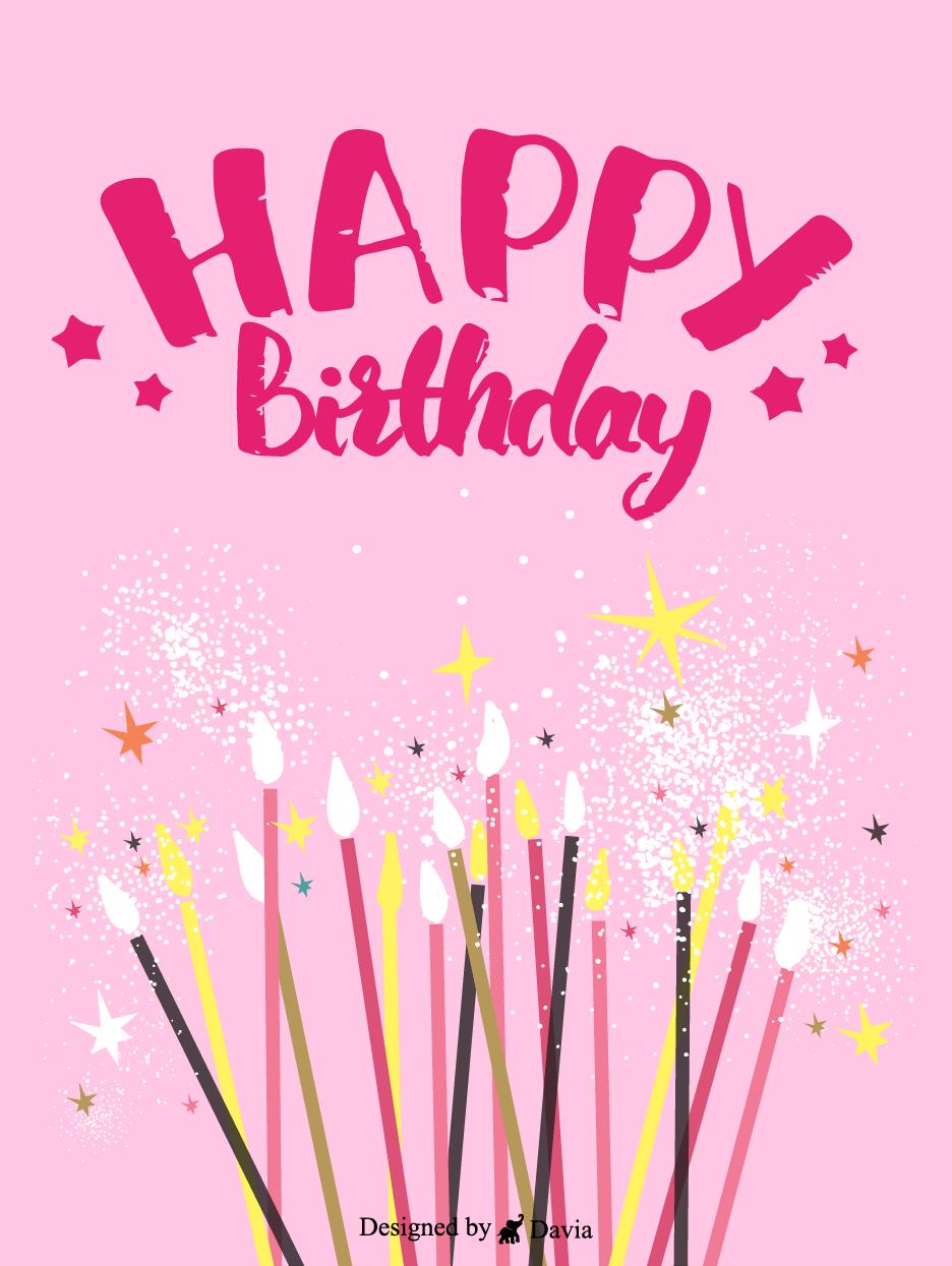 Shimmer Happy Birthday For Her Cards Birthday Greeting Cards By Davia In 2021 Birthday Cards For Her Happy Birthday For Her Birthday Greeting Cards