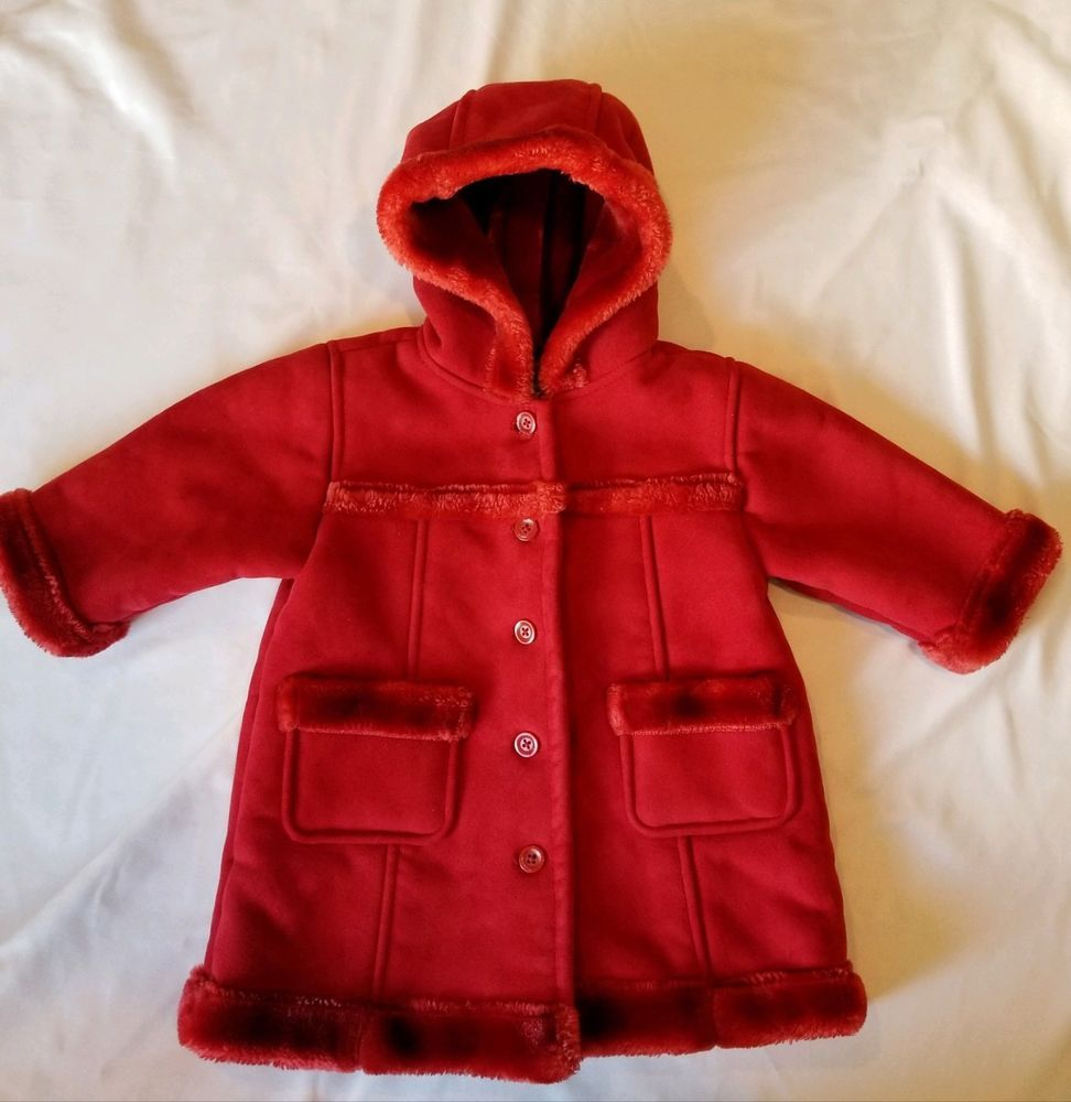 045435035cfb Baby Gap Red Hooded Winter Coat Infant Girl 6-12 months  fashion ...