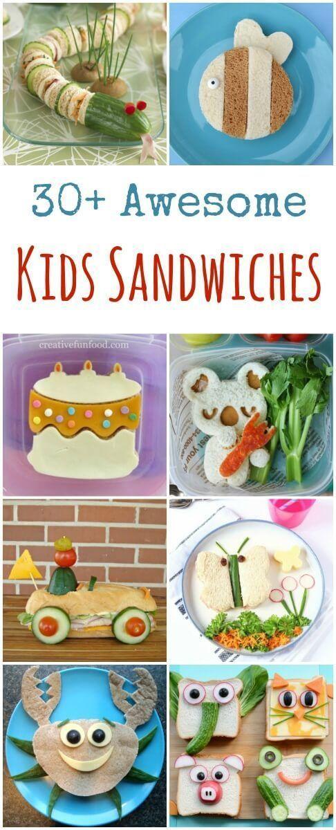 35 Fun Sandwiches for Kids