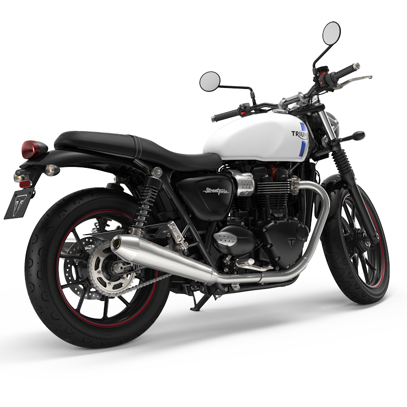 another view of the 2018 triumph street twin in crystal. Black Bedroom Furniture Sets. Home Design Ideas