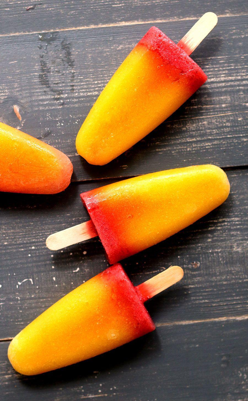 Beste Ijslollys van aardbei, mango en sinaasappelsap   Recept   Voedsel YU-47