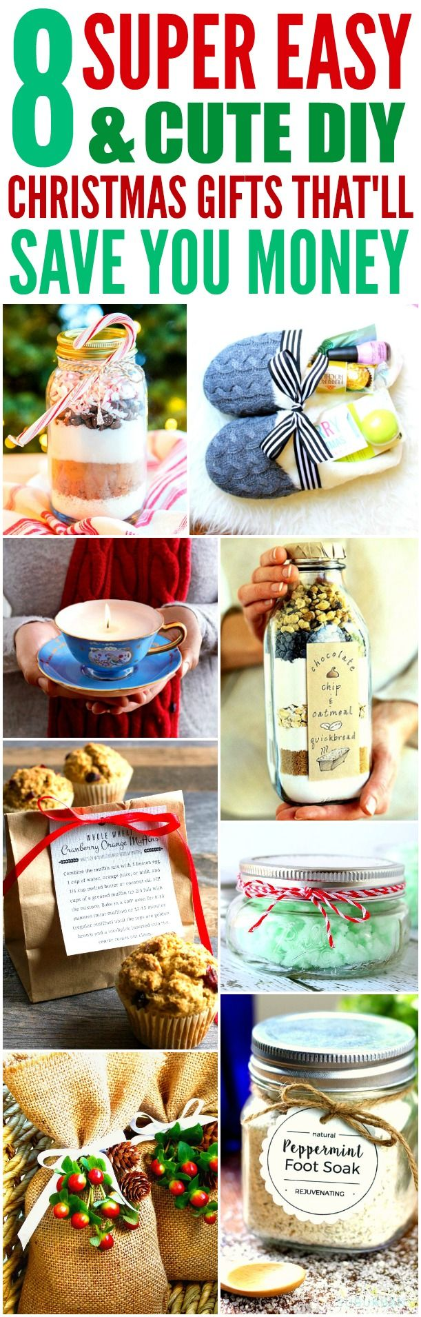 8 Super Easy and Cute DIY Christmas Presents (That\'ll Save You Money ...