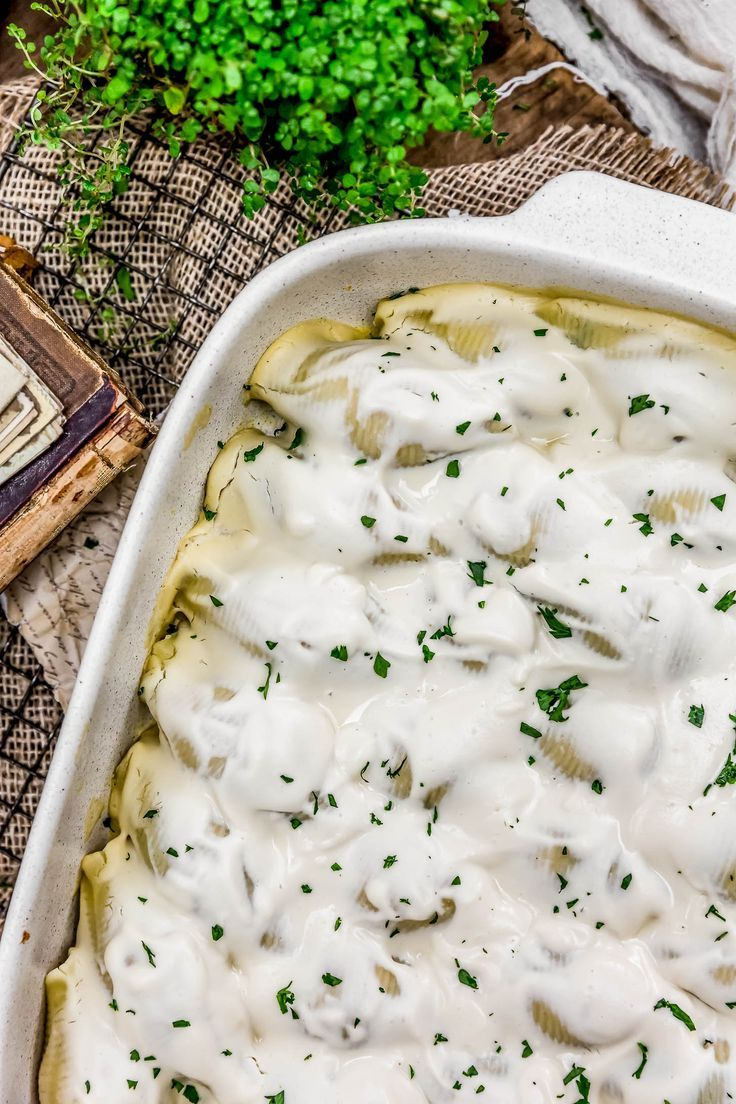 We Are Bringing All The Comforts With This Vegan Pierogi Stuffed Shells Featuring A Cheesy Spina Slow Cooker Balsamic Chicken Clean Dinner Recipes Baked Dishes