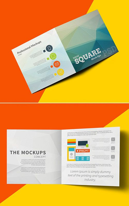 Imaginative Examples Of Square Brochure Designs  Brochures And