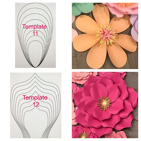 Details 15 00 Per Template All Paper Flower Templates Come In 8