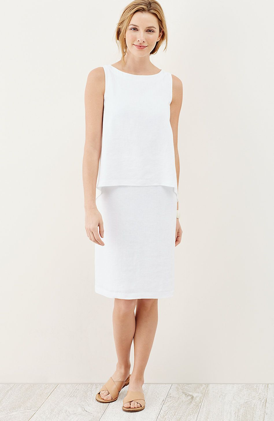 c2d05fe5fc8 Pure Jill tiered linen dress