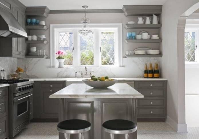 Kitchen in stone harbor 2111 50 by benjamin moore for for Benjamin moore paint for kitchen cabinets